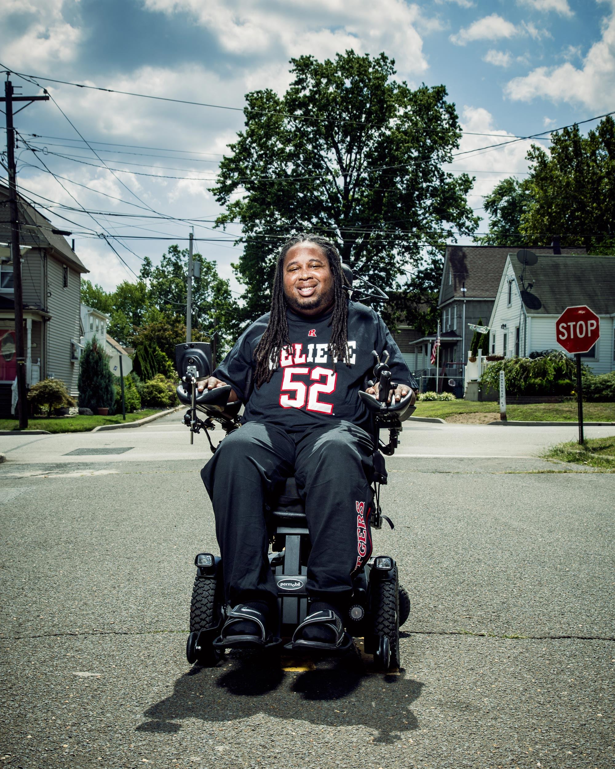 Eric LeGrand at his home in Avenel, NJ  for Rutgers University