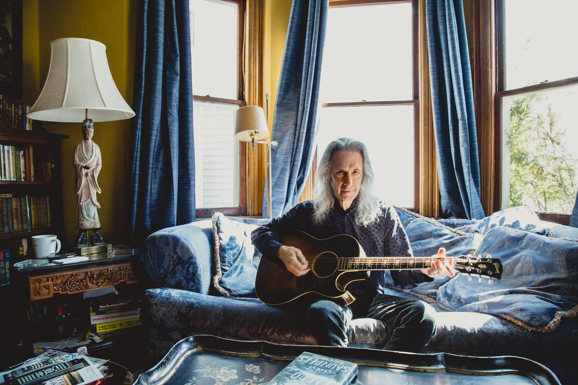 Lenny Kaye at his home in Stroudsburg, PA, for Rutgers University